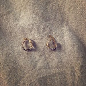 Small hoop clasp earrings